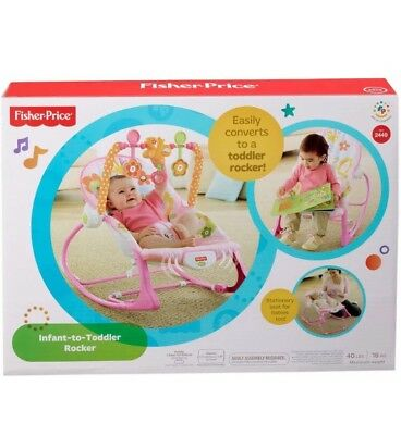 Fisher-Price Infant-to-Toddler Rocker Sleeper, Pink Bunny, NIB SHIP FROM STORE