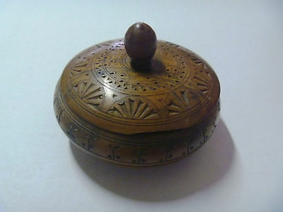 Vintage Wood box Wooden Handmade old antique for jewelry 11 x 8 cm