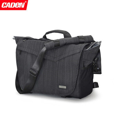 Caden Waterproof Shoulder Messenger Camera Bag For Canon Nikon Sony SLR DSLR