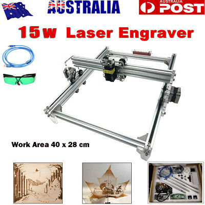 15W 40x28cm USB DIY CNC Laser Engraving Carving Engraver Cutter  Printer Machine