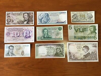 Bank Notes From Pre Euro Europe