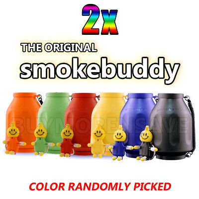 2x THE ORIGINAL SMOKE BUDDY PERSONAL AIR FILTER (Colors Will Be Randomly Picked)