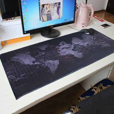 Large Size Anti-Slip World Map Speed Game Mouse Pad Gaming Mat For Laptop PC New