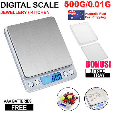 Kitchen Scale Digital Postal LCD Electronic Weight For Food/Jewellery 0.01-500g