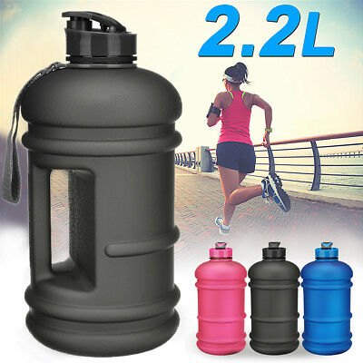 Frosted 2.2L BPA Free Sport Gym Training Drink Water Bottle Workout Camping Cup