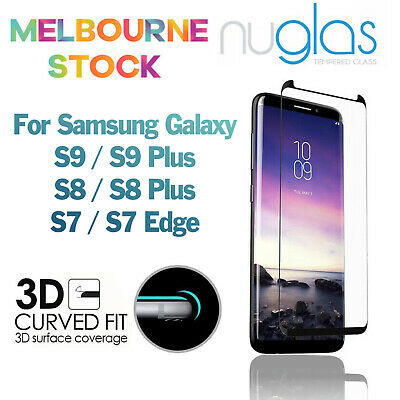 NUGLAS 3D Full Cover Screen Protector for Samsung Galaxy S9 S8 Plus S7 Edge