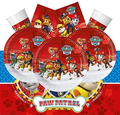 Paw Patrol Set Kit Hero Rescue Pups Chase Birthday Party Pack Tableware