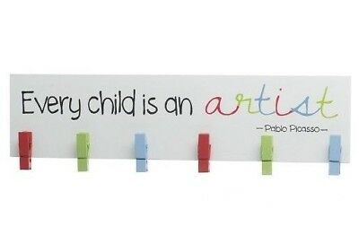 Every Child is an Artist Colourful Kids Bedroom Room Art Sign Plaque Wall Decor