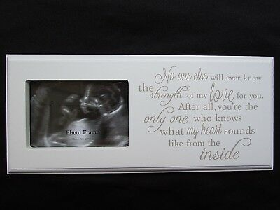 "Baby Scan Poem Photo Frame White 6"" x 4"" Photo with Beautiful Written Poem"