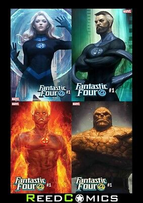 FANTASTIC FOUR #1 ARTGERM FOUR CHARACTER VARIANT SET Individually Bagged Boarded
