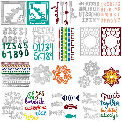 Metal Cutting Dies Stencil Scrapbook Paper Cards Craft Embossing DIY Kit Die-Cut
