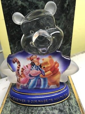 """Bradford Exchange Figure: Winnie The Pooh """"together Is Our Favorite Way To Be"""""""