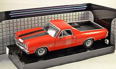 New Ray 1970 NR71883BW Black Chevrolet El Camino SS 1:24