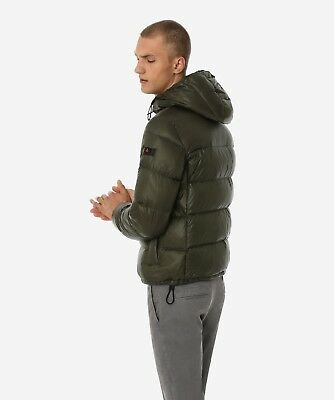 Down jacket PEUTEREY VELOSO MAN FEATHER NYLON RIPSTOP GREEN PEU2593 01181371