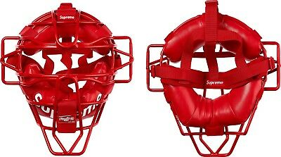 Supreme Rawlings Catcher Mask Red - SS18 100% Authentic Brand New! In Hand!