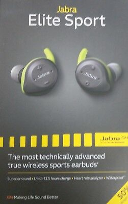 BRAND NEW JABRA ELITE SPORT GREEN SEALED earbuds