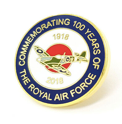 100 Glorious Years Of RAF Royal Air Force Large Enamel Lapel Centenary Pin Badge