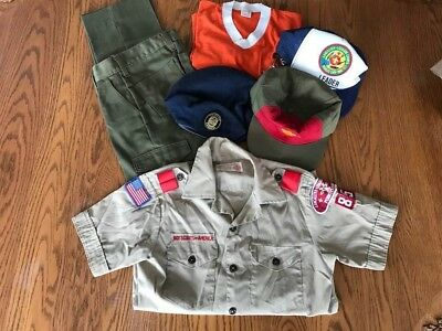 VINTAGE BOY SCOUTS OF AMERICA SHIRT, PANTS, TIGER T-Shirt, LOT OF 3 HATS