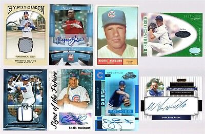 Chicago Cubs 30 Card Lot Maddux Sandberg Sosa Refractor Auto Jersey Rookie Rc Sp