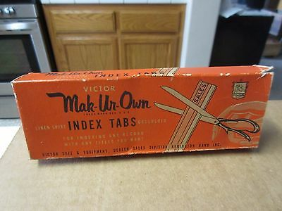 Vintage Box of Victor Mak-Ur-Own Index Tabs for Record Indexing