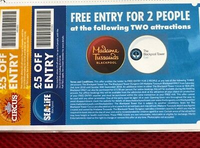 2 x 2 FREE Entries to Blackpool Eye & Blackpool Waxworks - Blackpool Vouchers