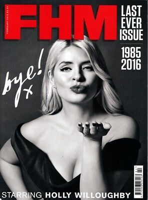Fhm Magazine February 2016 Issue 314 :: Last Ever Issue :: Holly Willoughby New