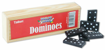 28Pc Dominoes Game Play Set Wooden Box Traditional Kids Party Bag Filler