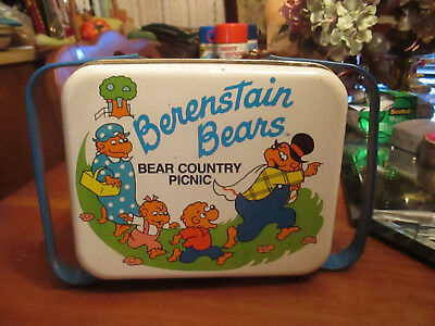 Vintage Berenstain Bears Country picnic lunchbox double handle 1987