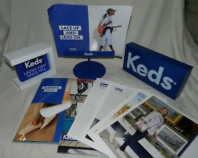 Lot of Keds Shoes advertising items including Catalogs + Displays