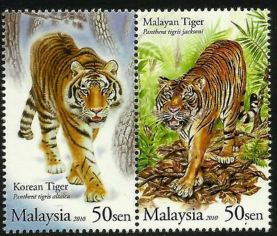 Malaysia 2010 Malaysia Tiger set of 2 MNH Joint issue with Korea South