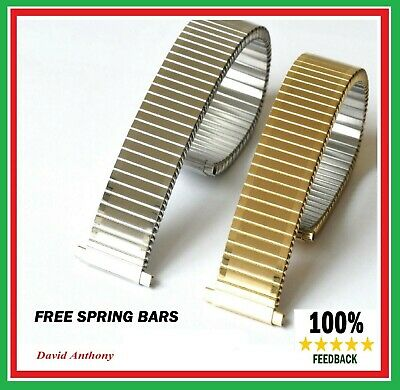 17mm to 22mm GOLD OR  STAINLESS STEEL FIXO FLEX STYLE EXPANDING WATCH BRACELET