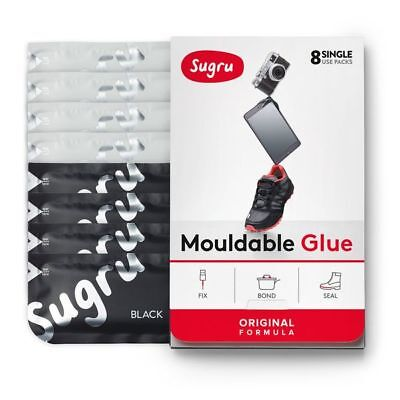 Bond a GoPro mount to a helmet with Sugru Black and White 8 Pack