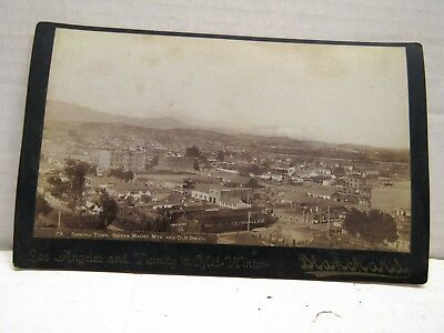 1890's LARGER  PHOTO LOS ANGELES & VACINITY MID WINTER SONORA TOWN BY BLANCHARD