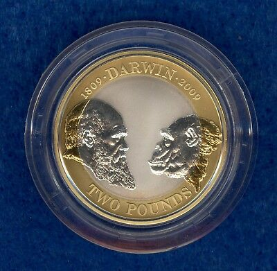 The 2009 UK 200th Anniversary of Birth of Charles Darwin £2 Silver Proof Coin