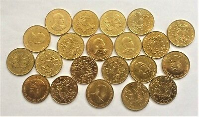 WHOLESALE - 100 KENYA 10 CENTS COINS of 1994 with PRESIDENTIAL PORTRAIT KM # 18a