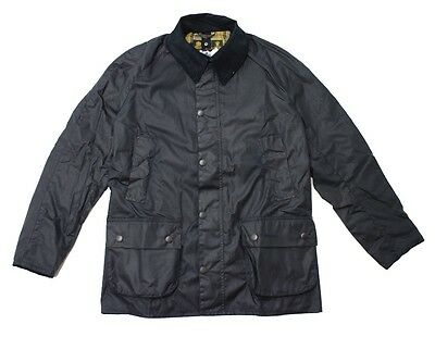 BARBOUR Ashby Waxed Jacket in Navy