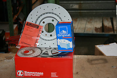 Sport Brake Discs and ATE Pads Audi A3/VW Golf V and Vi Seat Skoda Front