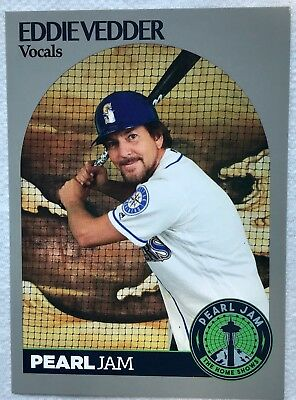 Pearl Jam seattle baseball card 2018 safeco field mariners the home shows