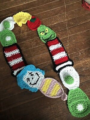 Dr Seuss Handmade Scarf, Green Eggs And Ham, Cat In The Hat,