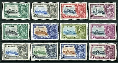 Weeda British Commonwealth KGV Silver Jubilee F/VF MH 1935 issue CV $189.95