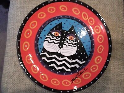 Laurel Burch Ganz Black and White Cat Collector Plate