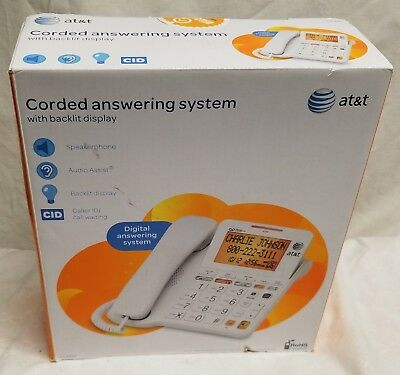 (1) New, In Box -ATT -CL4940 - Corded Phone / Answering System - Un-Tested -READ
