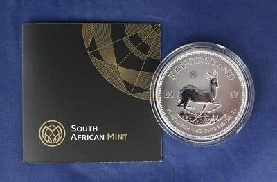 2017 South Africa Silver 1oz Krugerrand coin in Capsule with COA    (N8/3)