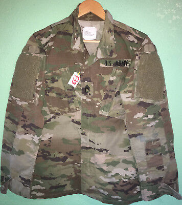 Us Army Ocp Scorpion Female R/s Insect Guard Shirt 36 Reg Used (4_F33)
