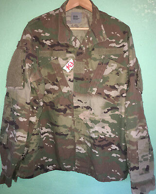 Us Army Ocp Scorpion F/r R/s Insect Guard Shirt Large Reg Used (4_F34)