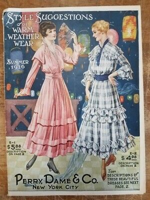 Summer 1916 Catalog Style Suggestions Perry, Dame Co Vintage Women's Fashion