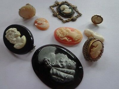 Antique Victorian Art Deco Later Cameo Repair Lot