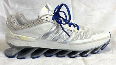 new products 75751 23e2f Adidas Men s Springblade Size 10.5 White with Reflective Stripes, Techfit