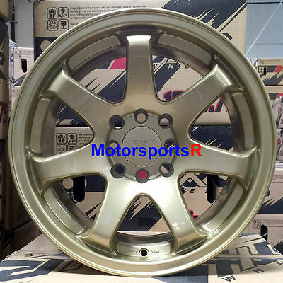 XXR 551 Wheels 16 x 8 +21 Gold Concave Rims Stance 4x100 91 95 02 Honda Civic SI