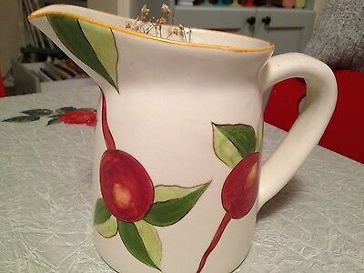 """California Pottery Handpainted Pitcher Laurie Gates 7"""" X17"""" Mint Never Used 2001"""